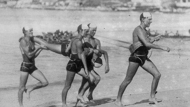 e5291d340a Circa 1929: Life savers practicing on Bondi Beach in Sydney. (Fox  Photos/Getty Images) Before the Bikini: Rare Vintage Beach Photos -  weather.com