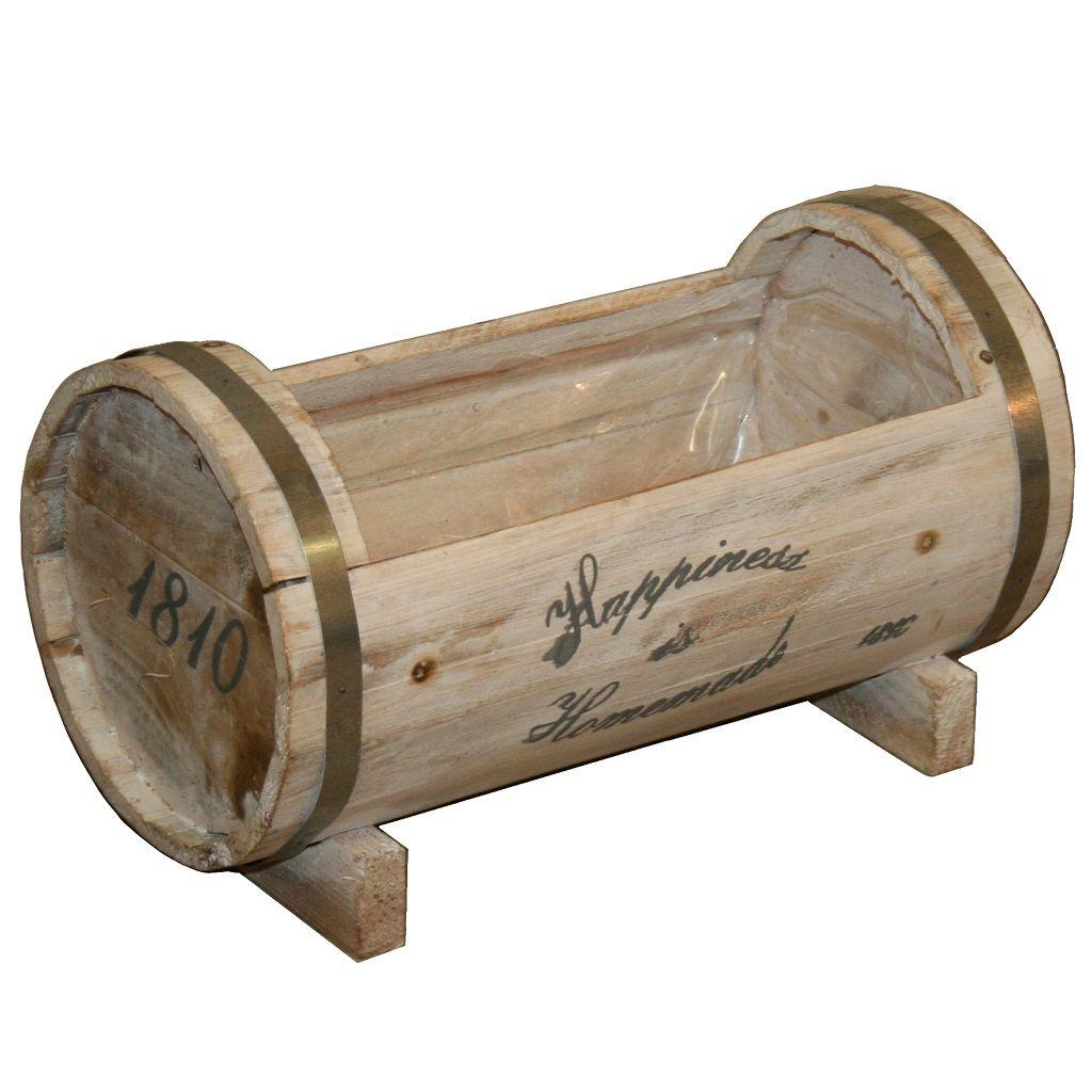 Original barril de madera para plantas y flores - Jardineras de madera ...