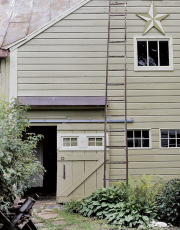 We Ll Definitely Have Enough Old Ladders For Leaning I Like The Six Pain Windows On Edge And Sliding Barn Door