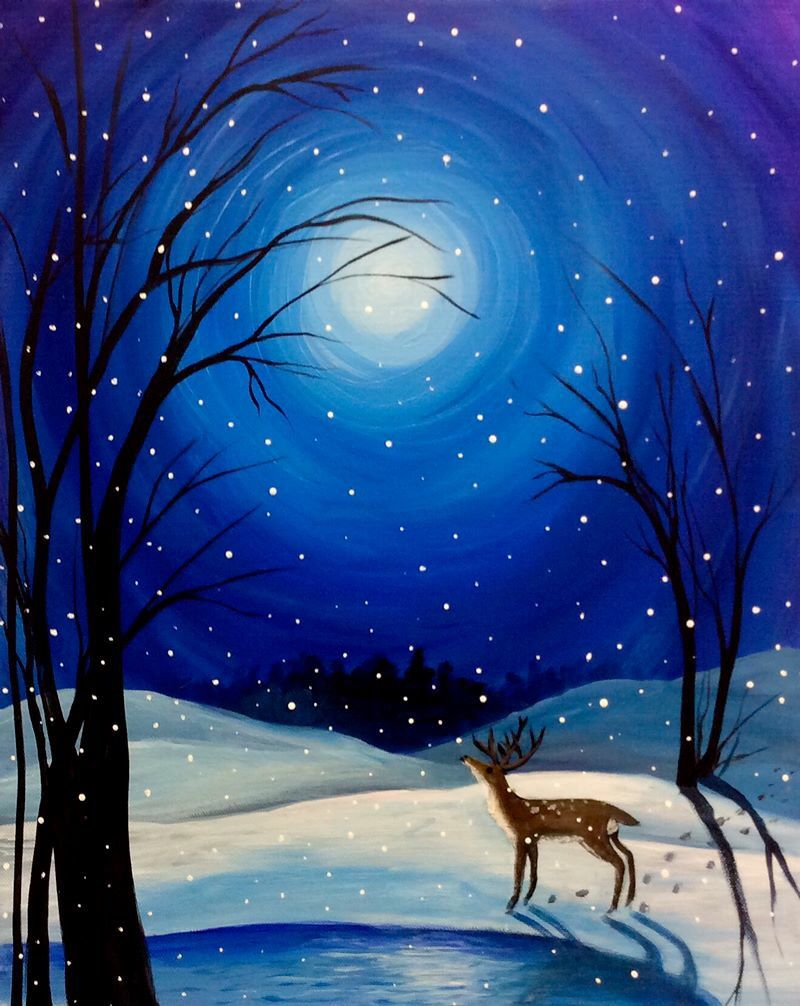 Paint Nite In 2019 Painting Winter