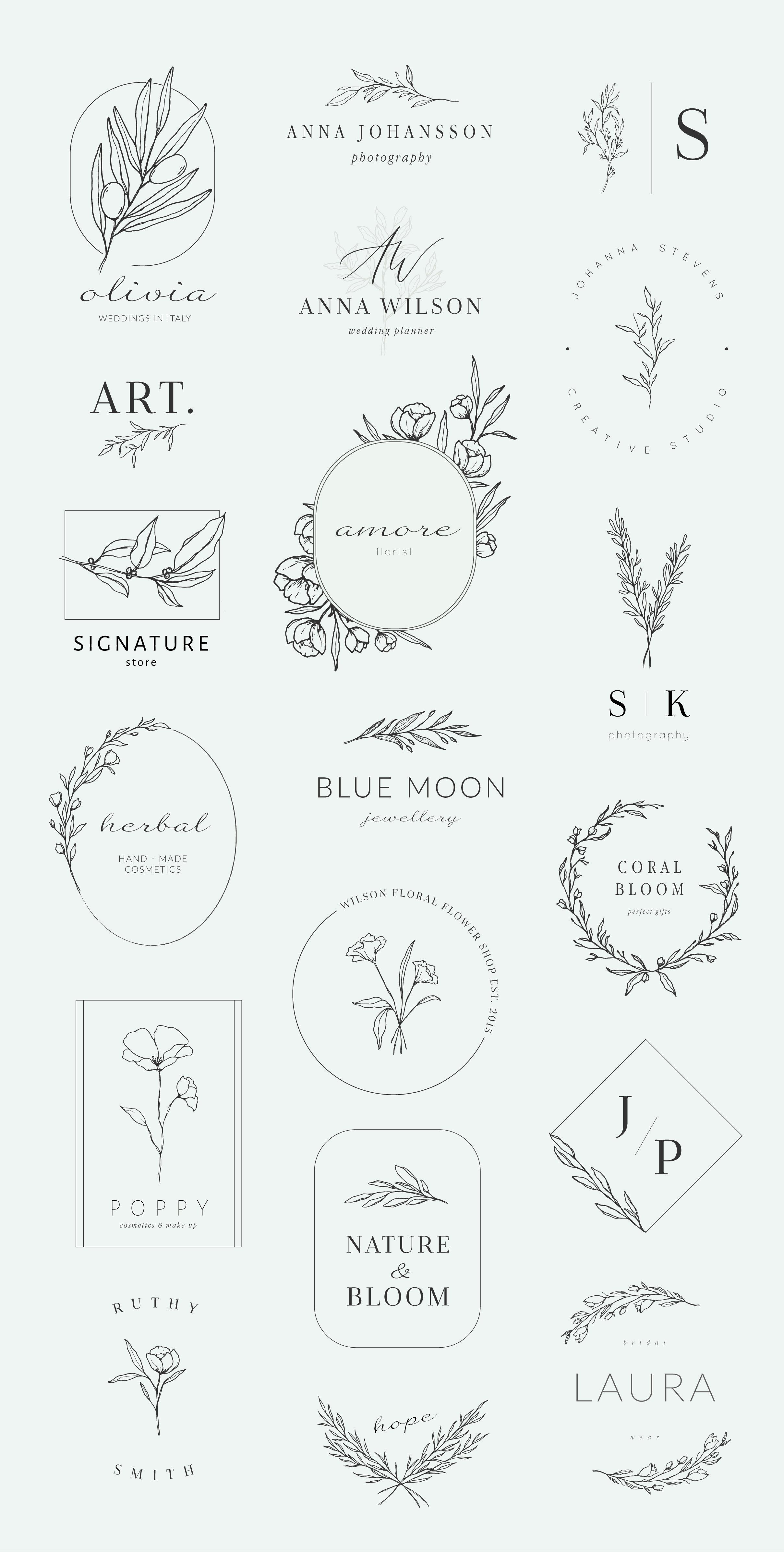 Botanical logos & illustrations ~ Logo Templates ~ Creative Market