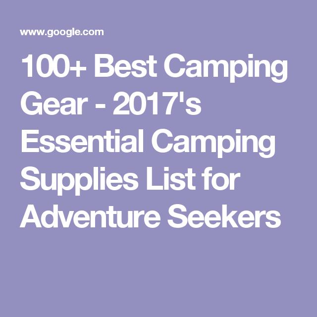 100 Best Camping Gear