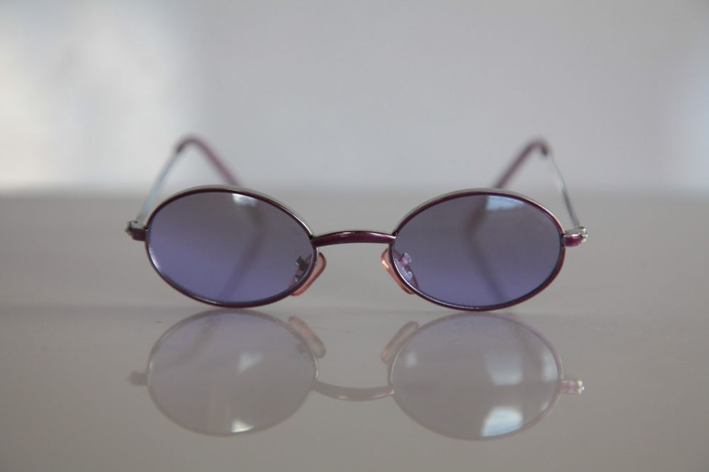 Metallic Pink Oval frame, Orchid Pink lenses, Size SMALL #Oval
