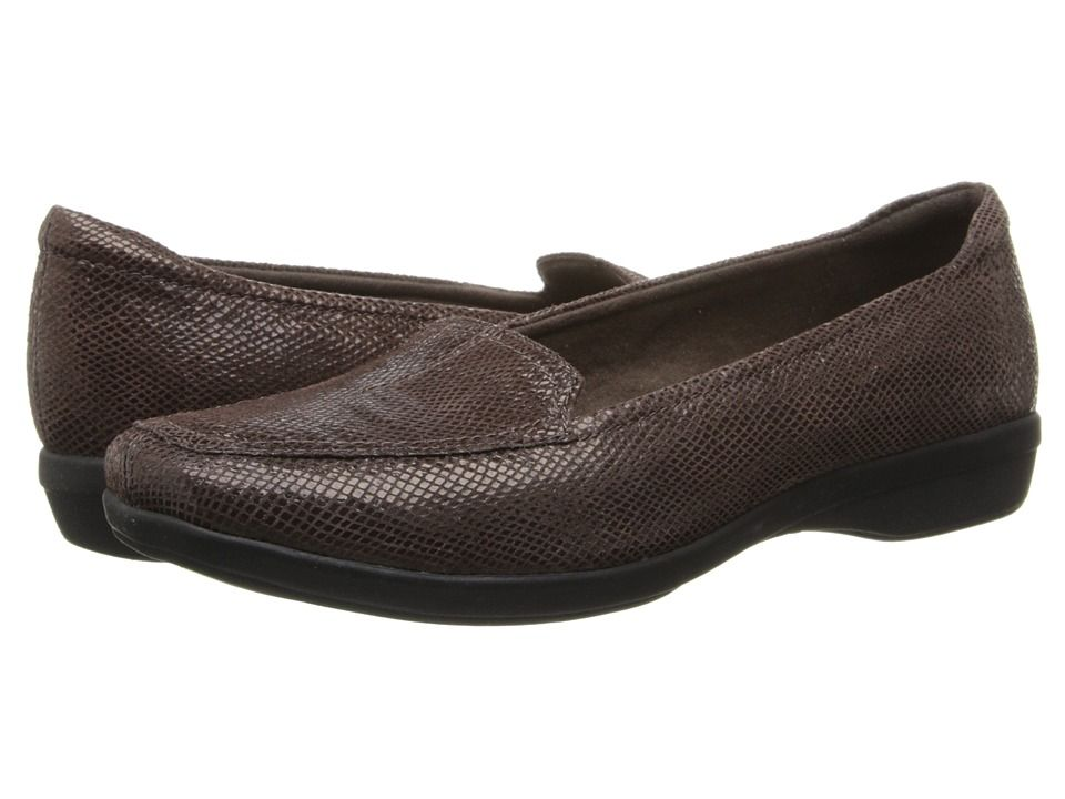 Womens Shoes Clarks Haydn Harvest Brown Lizard Print Leather