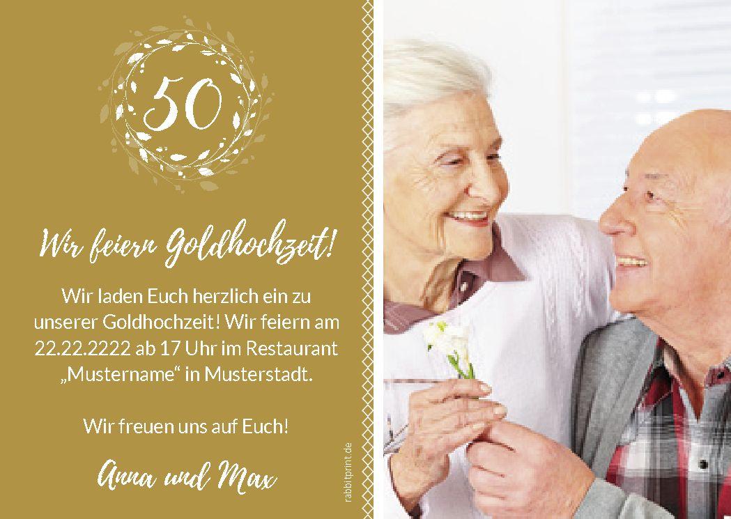 Einladung Zur Goldhochzeit Goldene Hochzeit Hochzeit Einladungskarten