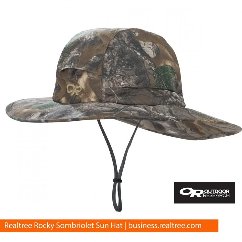 3031189b58d The Sombriolet Sun Hat in Realtree Xtra protects your head and face from  the sun and heat when you re out on the water or on the hunt.