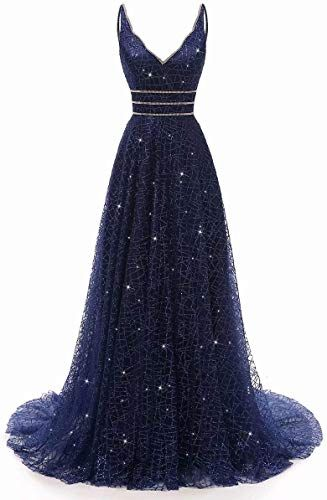 Photo of New RJOAM -Prom Dress Long Deep V-Neck&Back Tull Dress Party Night Evening Gown online shopping – Melyssarubyclothing