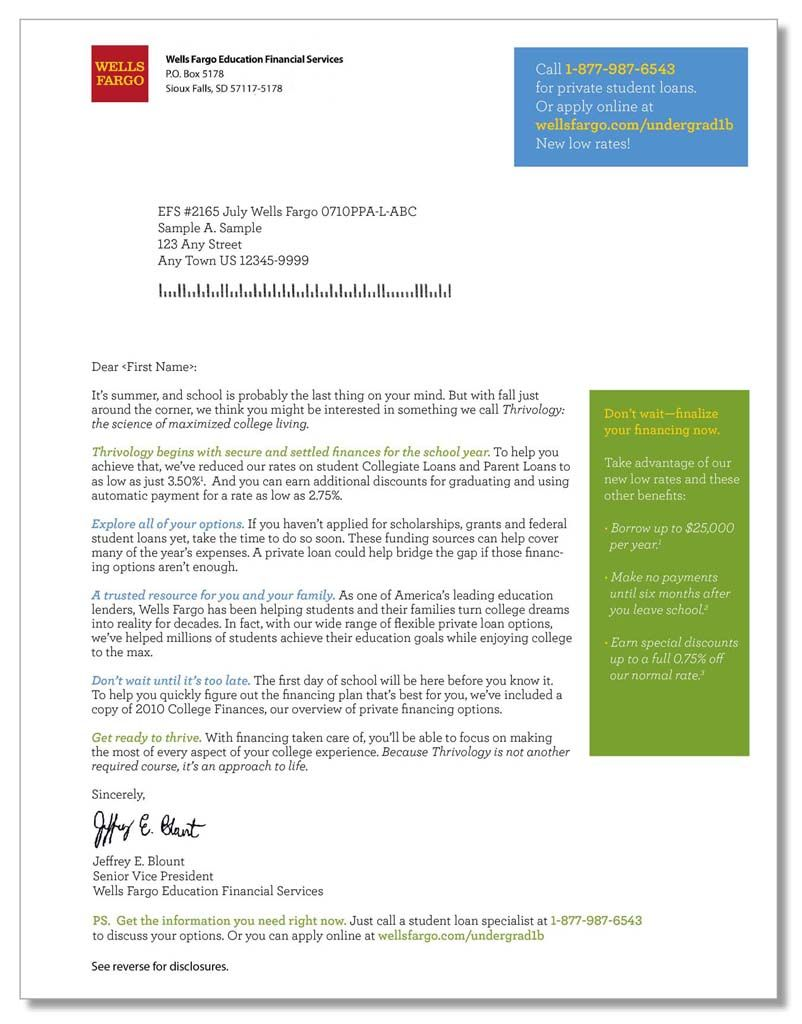 better than one » WF Thrivology Direct Mail Letter | Direct Mail