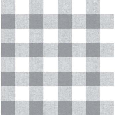 Paramount Gray And White Picnic Plaid 18 In X 20 5 In Peel And Stick Wallpaper Wqnw34508 The Home Depot In 2021 Grey And White Wallpaper Wallpaper Iphone Christmas Grey Wallpaper Iphone