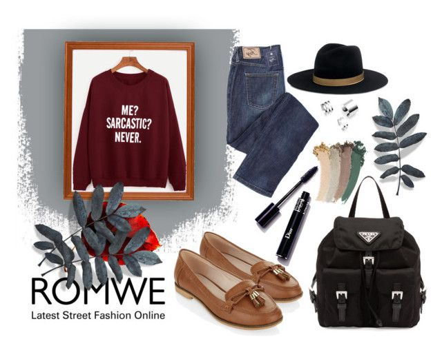 """""""ROMWE - contest entry"""" by xoxo-uwu ❤ liked on Polyvore featuring Prada, Janessa Leone, Accessorize, Gucci, contest, outfit, contestentry and fashionset"""