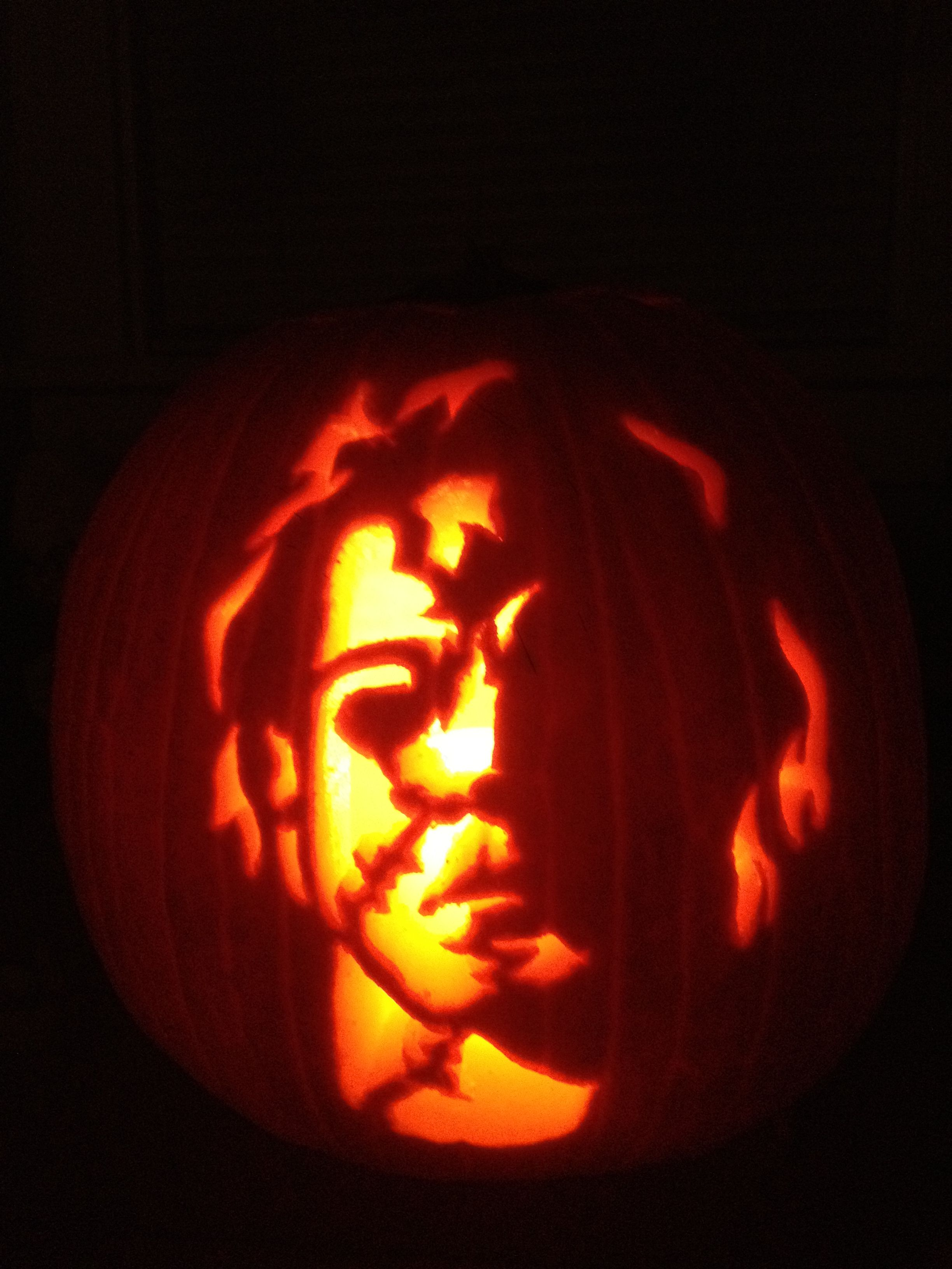 Pumpkin carving - Michael Myers :) me and Ry are doing this.. I\'m ...