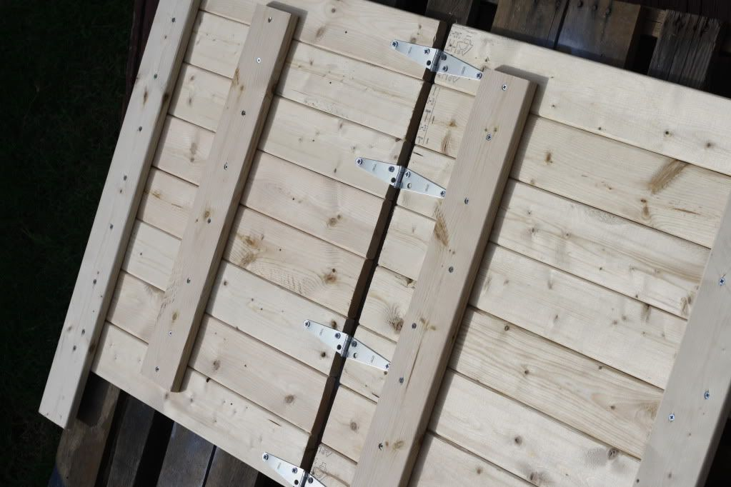 DIY wooden backdrop…this is WHAT I am working on with all my planks…how to get the hinges on and safer!