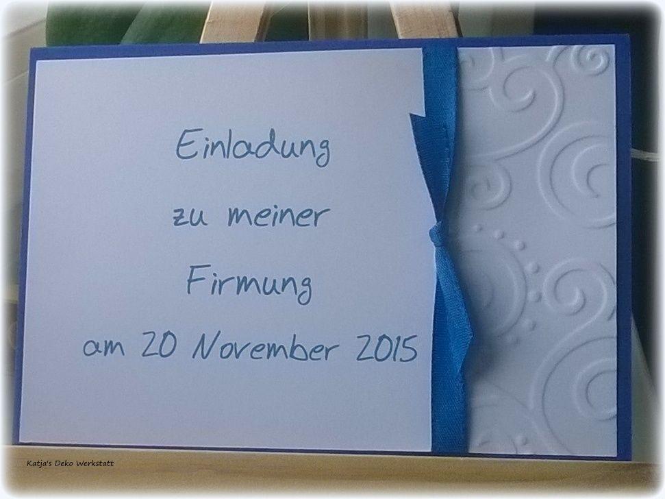 einladungskarte kommunion konfirmation taufe firmung