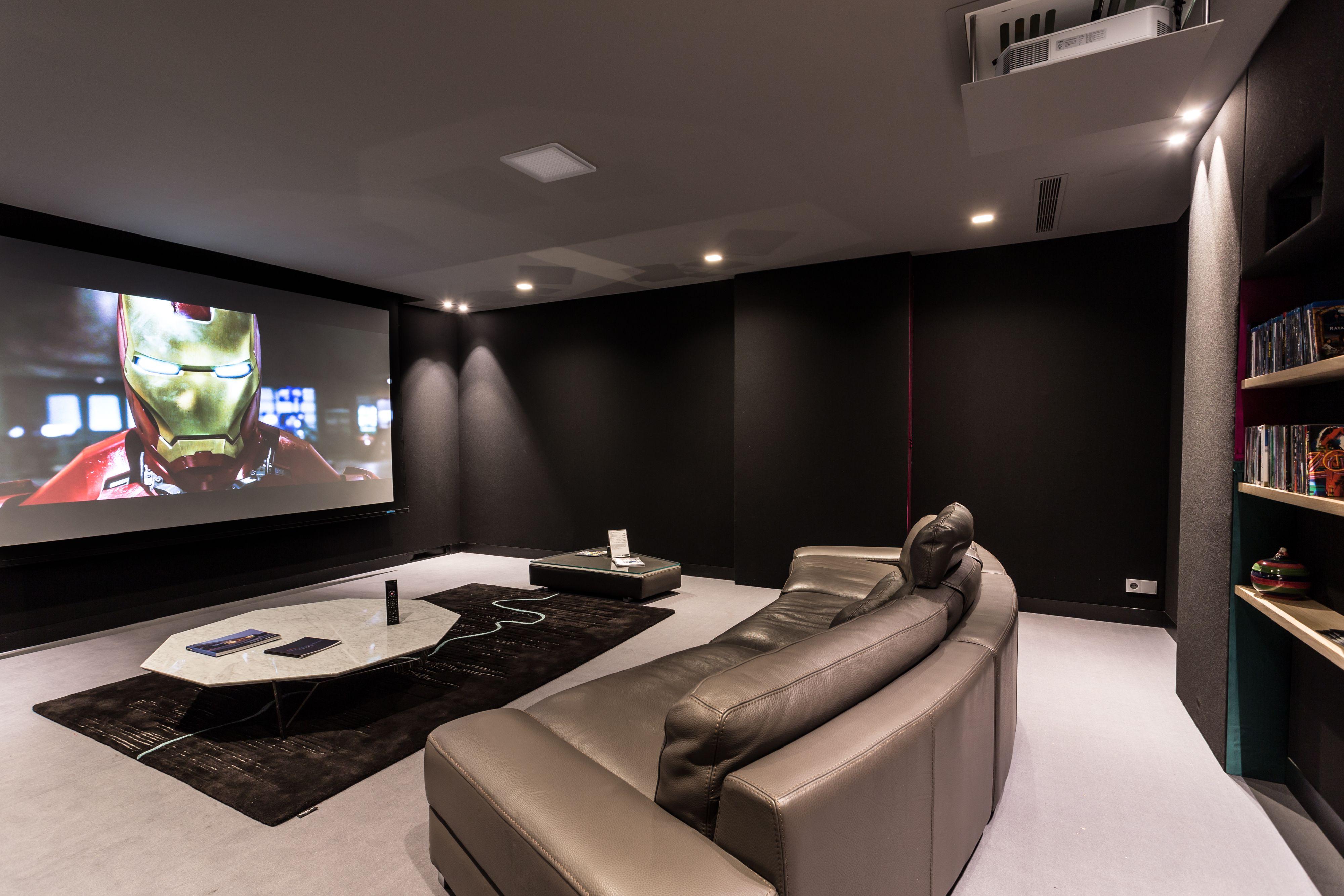 luxury cinema room with waterfall pro custom series | media room