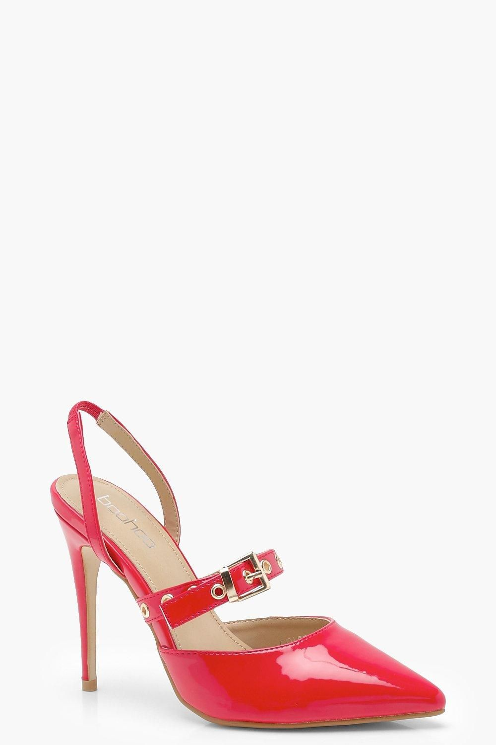 Patent Pointed Sling Back Heels Boohoo Heels Pretty High Heels Shoe Collection