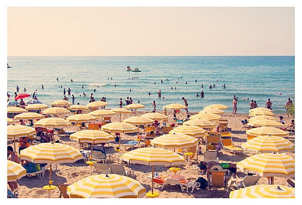 Would love a Gray Malin print for the apt. Love this one, Cefalu Yellow Umbrellas.
