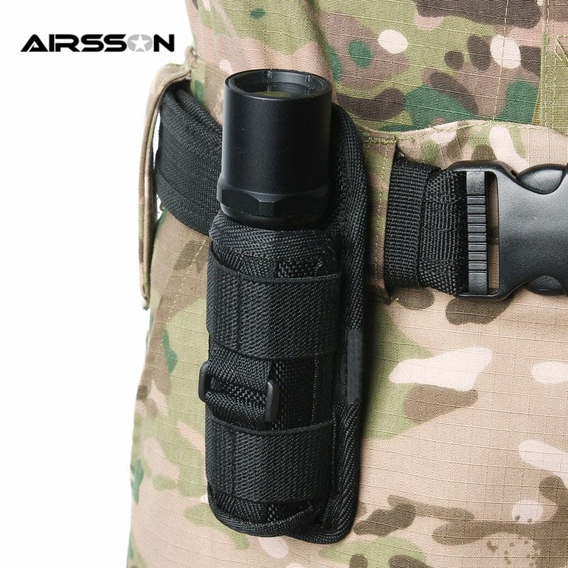 Tactical 360 Degrees Rotatable Flashlight Pouch Flashlight