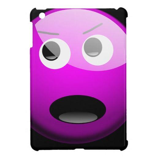 Angry Purple Fibro Dude iPad Mini Covers