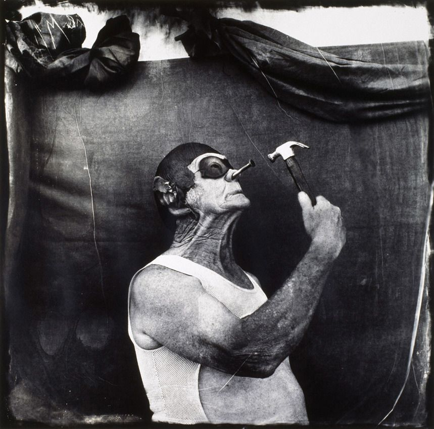 "JoelPeter Witkin. ""Melvin Burkhart, Human Oddity"". 1985"