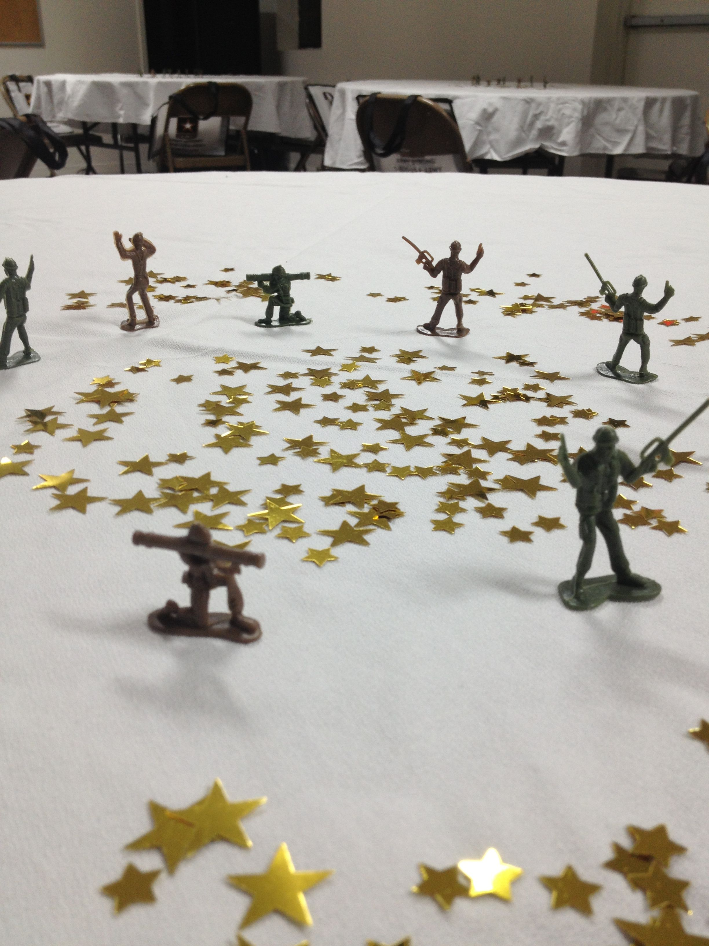 Party on a budget Army themed going away party. Center pieces with ...