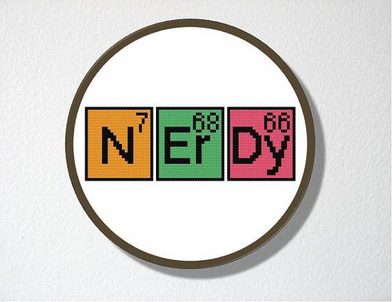 Counted Cross stitch Pattern PDF Instant download Nerdy Periodic - new periodic table download