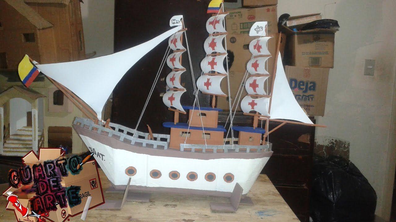 Como hacer un barco Pirata de carton / How to make a boat /CUARTO ...