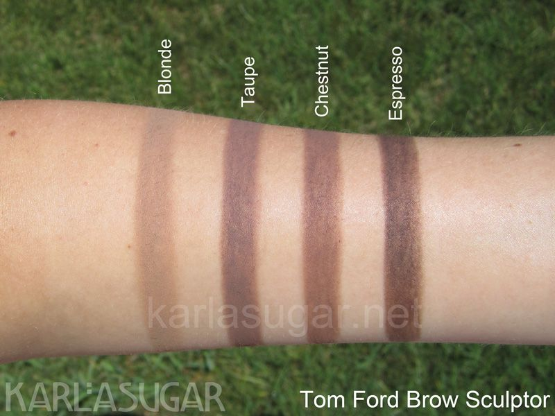 Tom Ford Brow Sculptor Swatches Blonde Taupe Chestnut