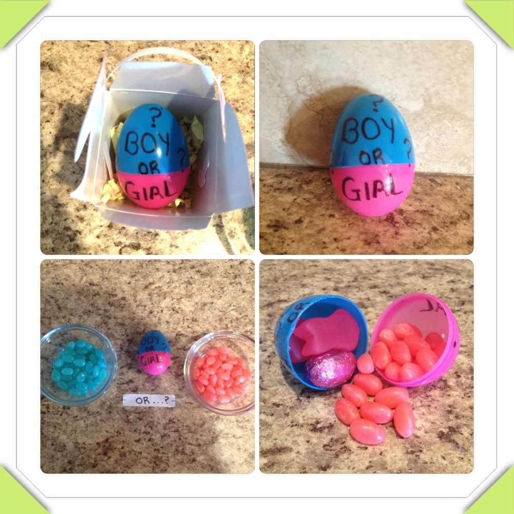 Easter gender revealor you could hide the gender in an egg and baby shower favour idea with gender reveal negle Gallery