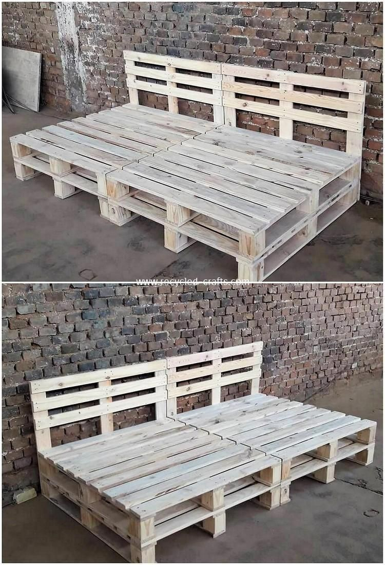 home made pallet furnishings inspirations and how to make your own rh pinterest com
