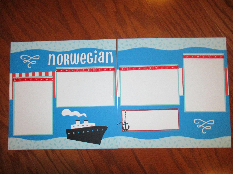 Scrapbook ideas names - 12 X 12 Holland Cruise Premade Scrapbook Layout Name Your Ship Handmade Cruise Scrapbook