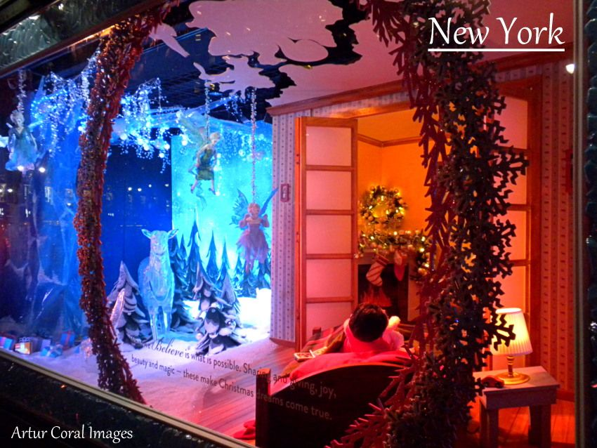 Nueva york navidad 2013 decoracion de ventanas y vitrinas de navidad en manhattan - Decoracion de vitrinas ...