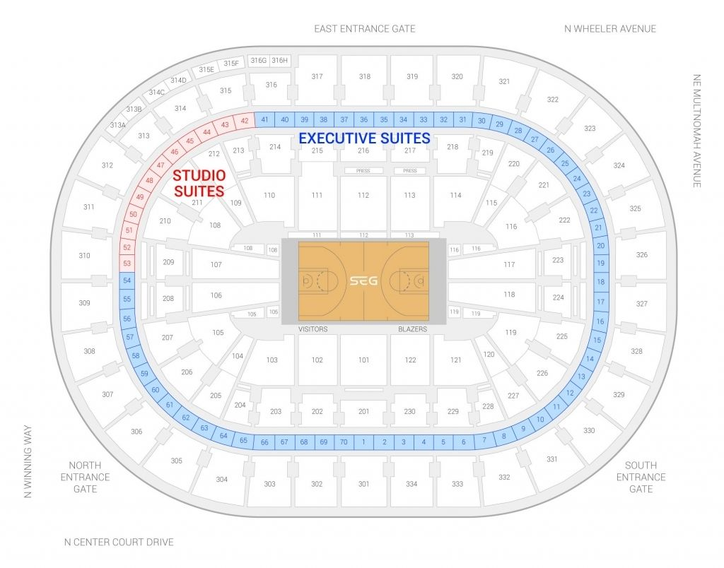 Moda Center Seating Chart Blazers Seating Charts The Incredibles Seating