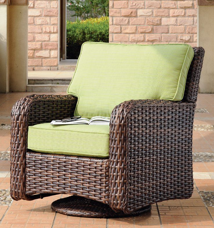 Saint Tropez Outdoor Wicker Furniture Patio Chairs Lounge Chair Outdoor Deep Seating Chair