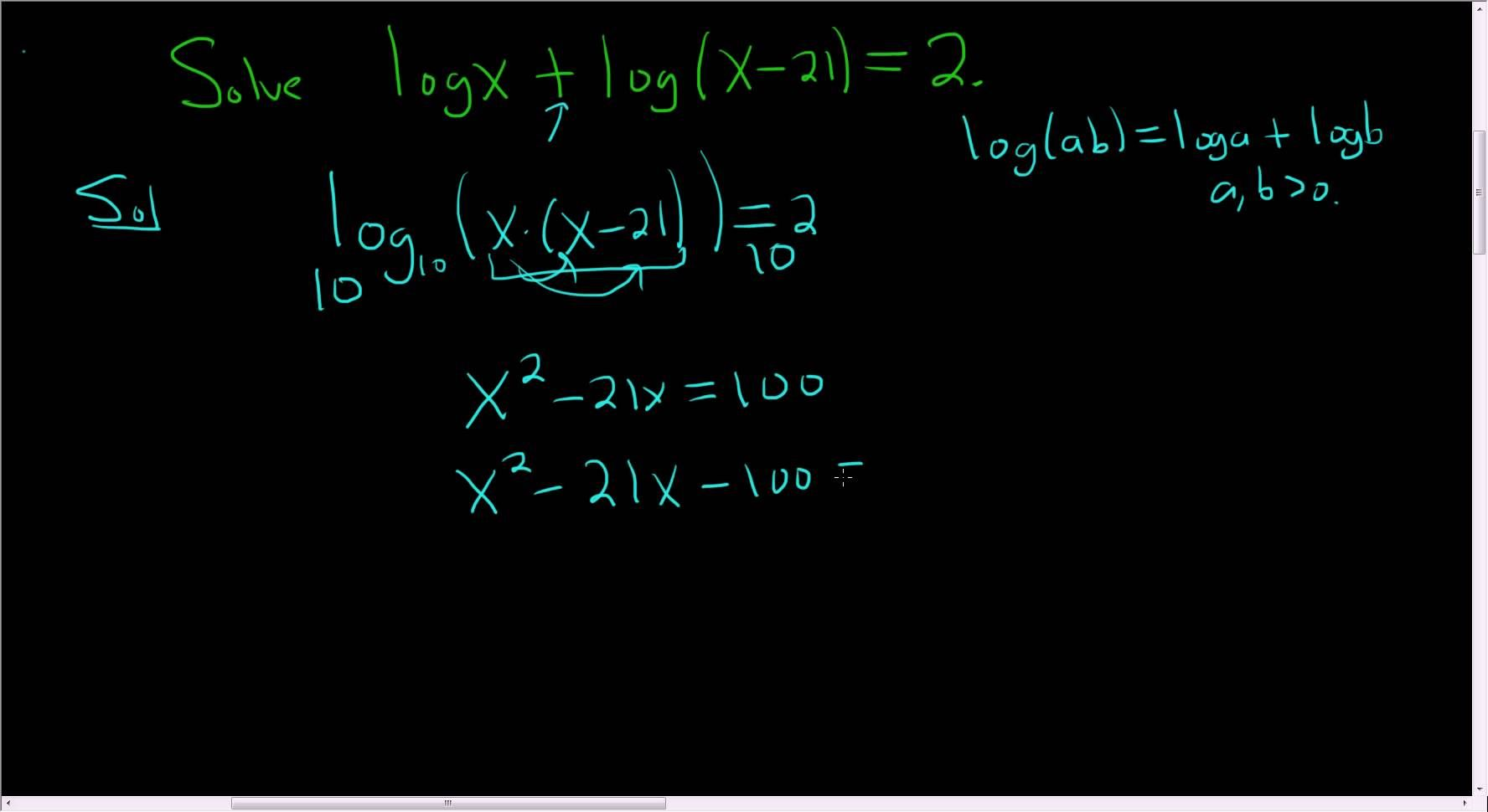 Solving An Equation With Two Logarithms Example 2