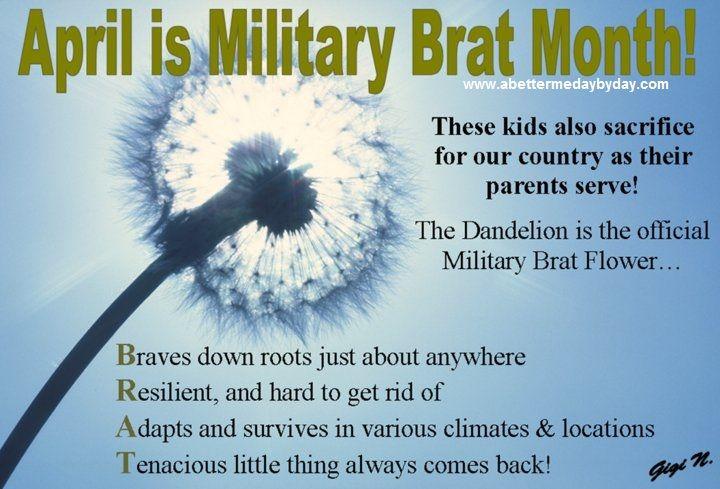 April Is Military Brat Month! Sending Some