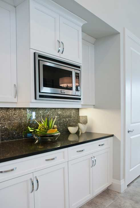 built in microwave kitchen remodel