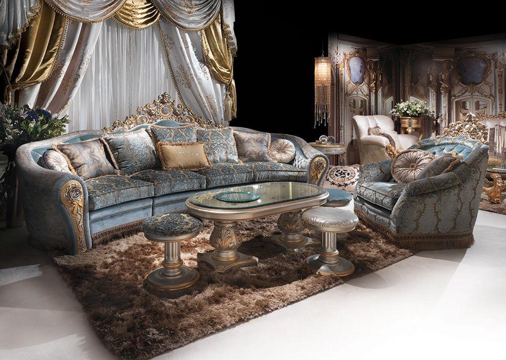 Arredo soggiorno classico di lusso, Divano decorato a mano Bijoux ...