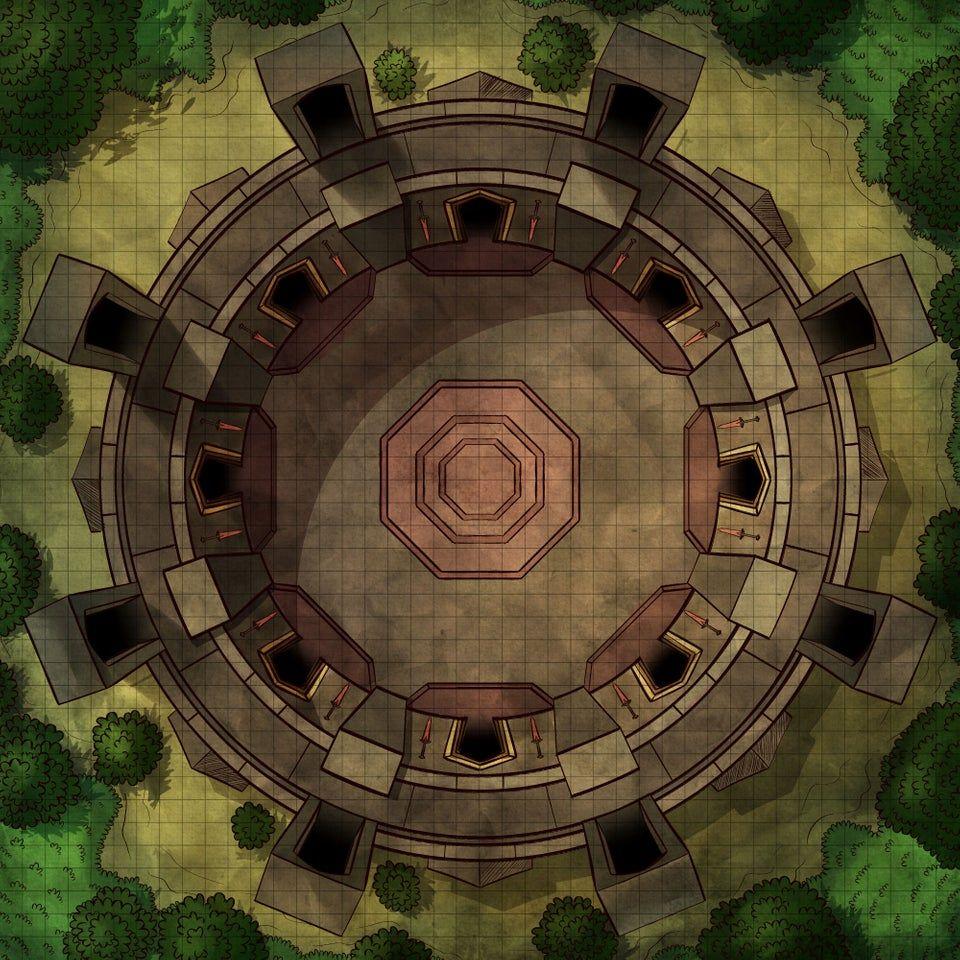 Oc Art Coliseum Battlemap Battlemaps Tabletop Rpg Maps Fantasy World Map Fantasy Map