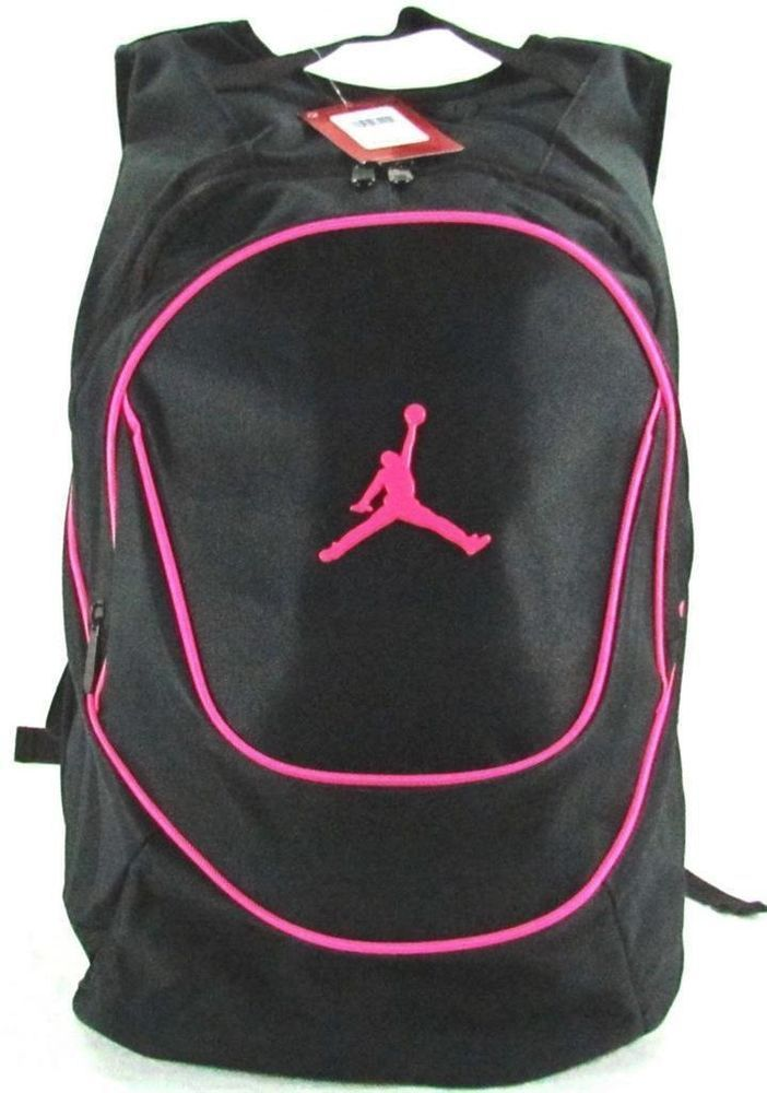 ffb99bf84a1 Brand New Nike Air Jordan Jumpman Backpack 9A1118-082 Black/Pink  #NikeAirJordan #Backpack