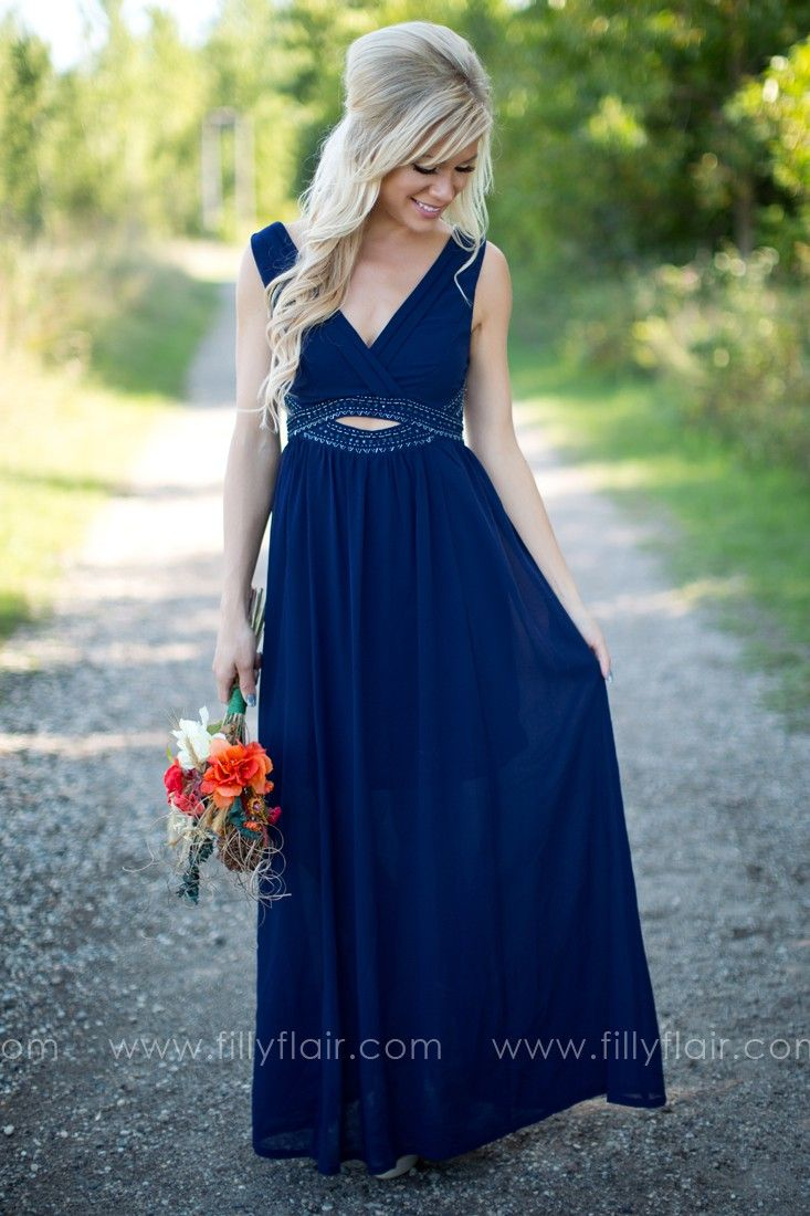 Beautiful long bridesmaid dress in midnight blue bridesmaid beautiful long bridesmaid dress in midnight blue ombrellifo Choice Image