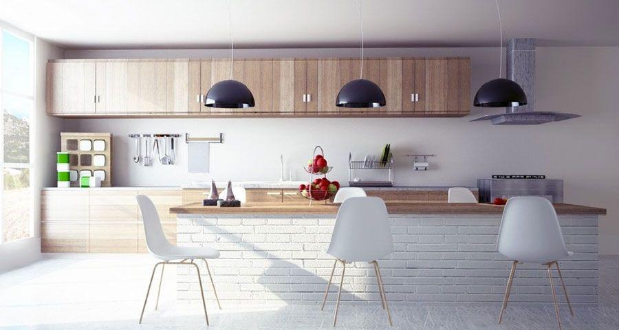 50 Foto Di Cucine In Muratura Moderne Mondodesign It Modello Di Cucina Contemporanea Progettazione Di Una Cucina Moderna Cucine In Legno Bianco