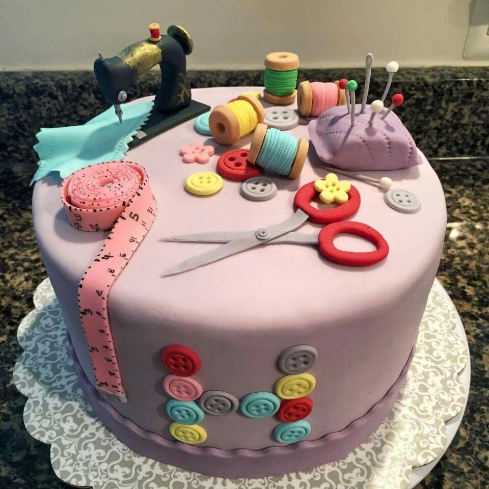 Great sewing club cake … | Pinteres…