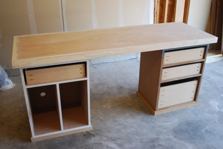 Modular Desk With A Wood Edged, Solid Core Door For The Top,