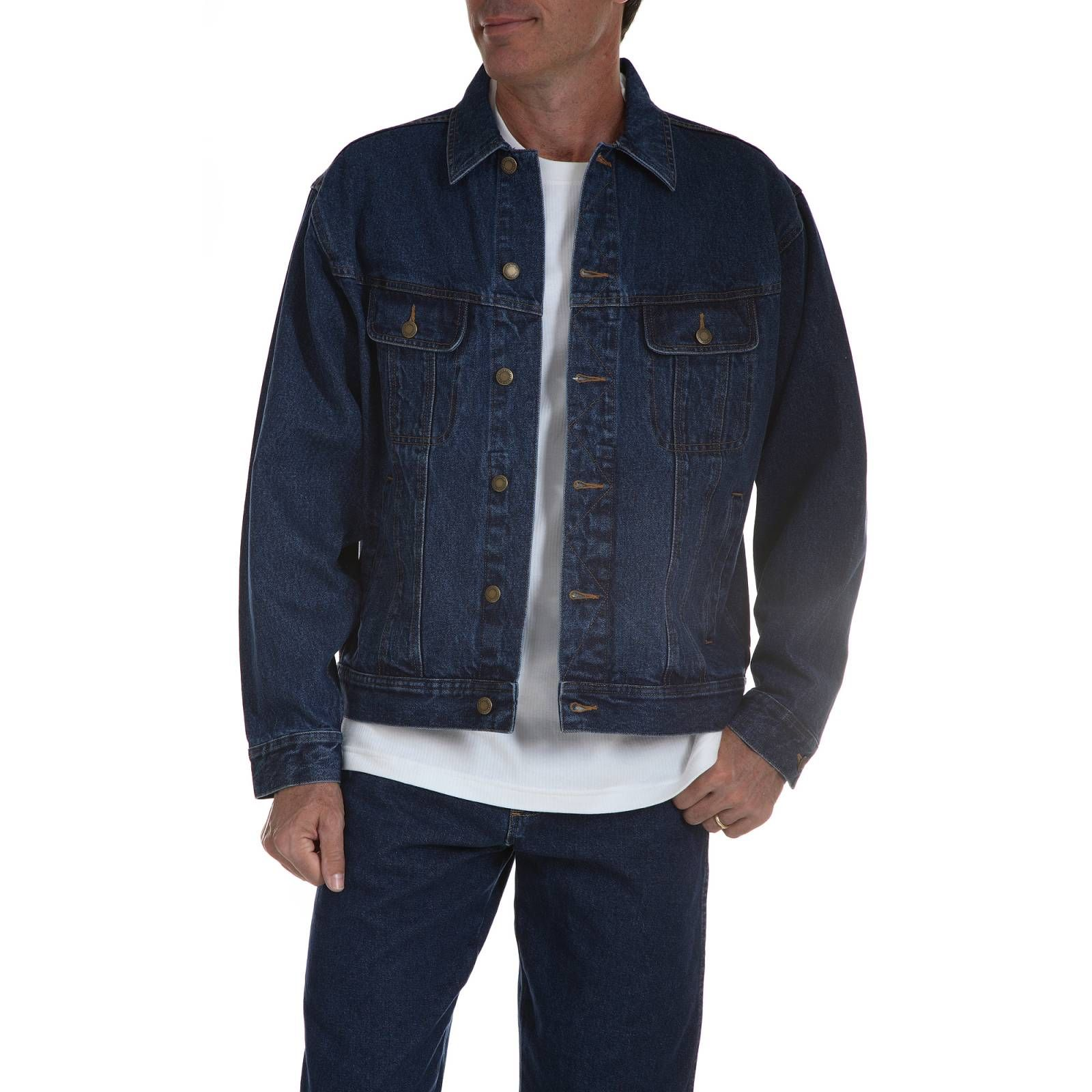 Wrangler Rugged Wear Denim Jacket Antique Indigo Vintage Indigo [ 1600 x 1600 Pixel ]