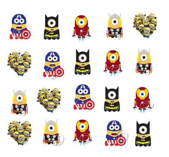 Avengers Nail Art Stickers: Despicable Me WaterSlide Nail Decal Paper Nail Art Sticker