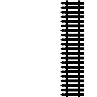 "Embossing Folder 4.25""X5.75""-Picket Fence Along Bottom"