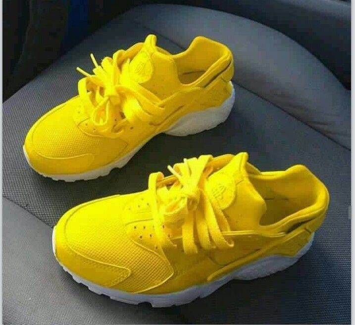 Bright yellow shoes