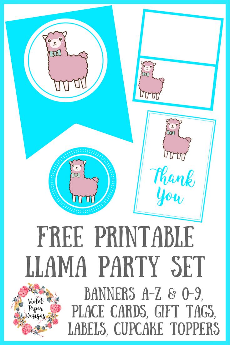 Free Printable Llama Party Set Free Printables Llama Birthday Printables