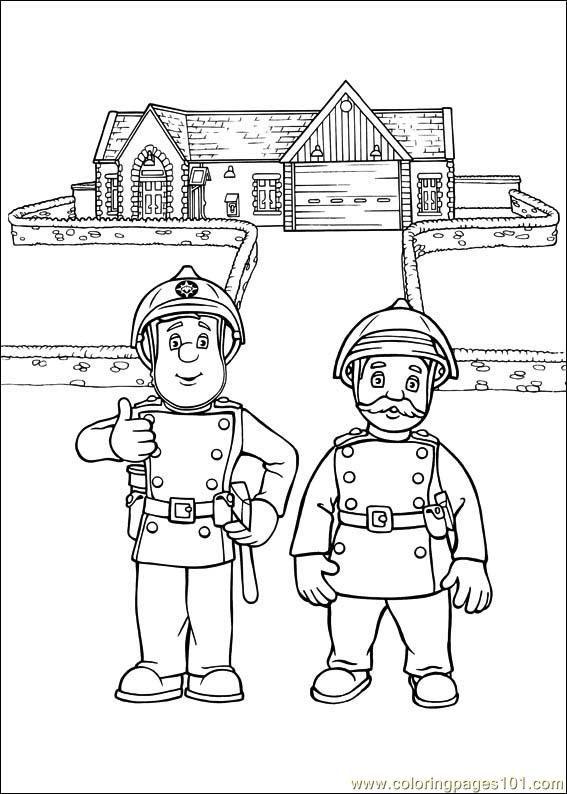 drawing fireman sam - Google-søgning | Børn | Pinterest | Colorear