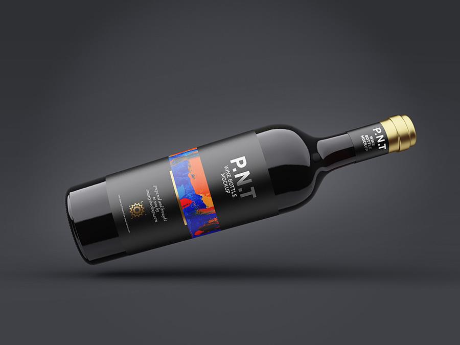 Download Free Wine Bottle Mockup Mockups Design Free Premium Mockups Free Wine Bottles Bottle Mockup Dark Wine Bottles